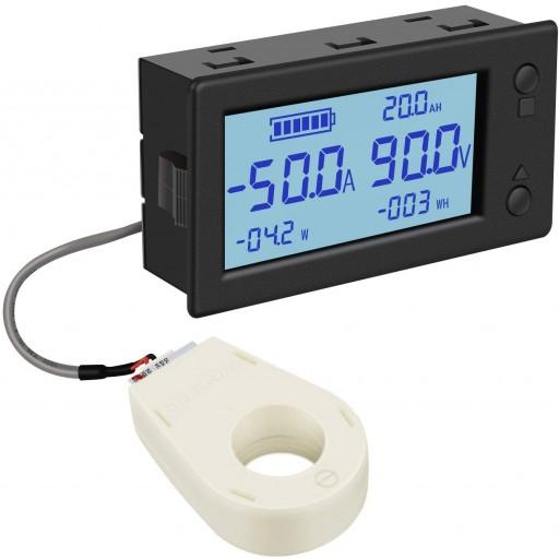 Drok DC Battery System Volt and Ammeter
