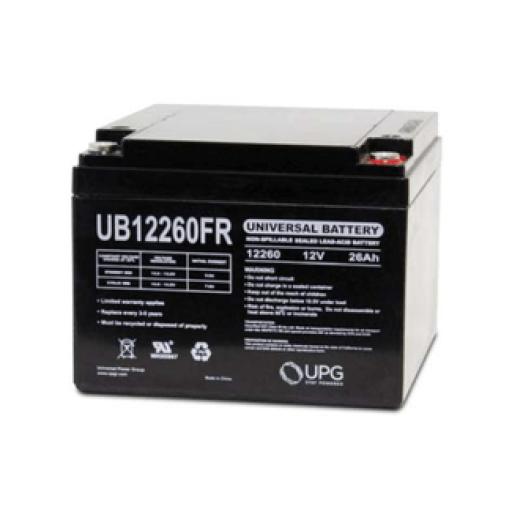 SLA Universal Battery: AGM 12 volt 26 Amp hours