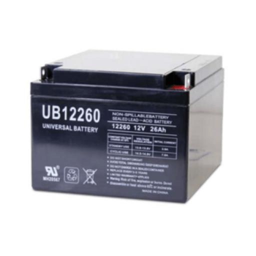 Universal AGM Battery: SLA 12 volt 26 Amp hours