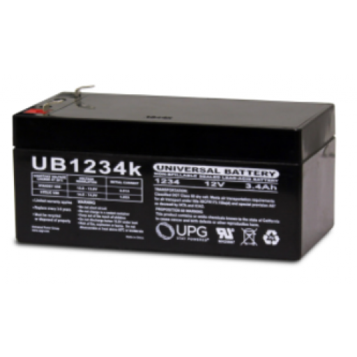 12 volt, 3.4 amp hour SLA Universal Battery
