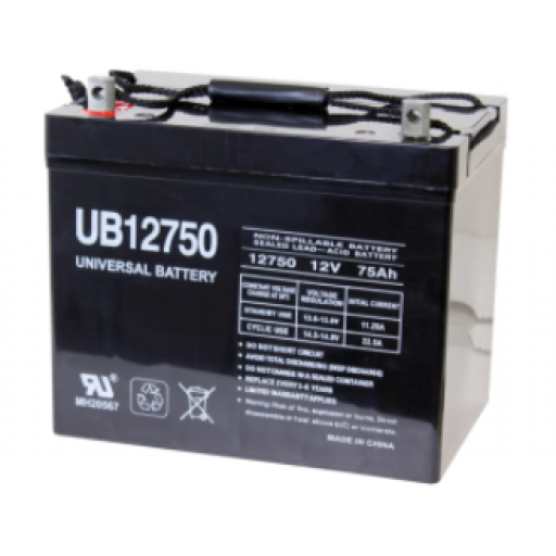 Universal Battery: Sealed AGM 12 volt 75 Amp hours