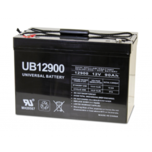 Universal Battery: Sealed AGM 12 volt 90 Amp hours