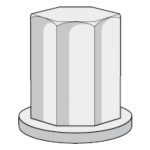 """3/8"""" - 16 Nut closed cap, Stainless Steel"""