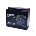 Universal SLA Battery: AGM 12 volt 18 Amp hours
