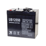 AGM Universal Battery: Sealed 12 volt 55 Amp hours