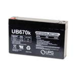 Universal Battery 6V 7Ah Sealed Lead Acid Battery