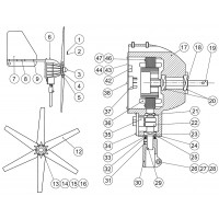 Aerogen A923-1000, A2 Pivot Shaft Assembly