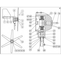 Aerogen A949-1000, A4 Rear Cover Assembly