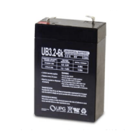 Universal Battery 6V 3.2 Ah AGM SLA Battery