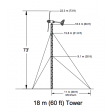 Bergey 60' guyed lattice tower diagram