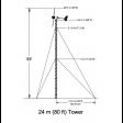 Bergey 80 foot guyed lattice tower diagram