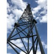 60 foot guyed lattice wind turbine tower. Made in the USA.